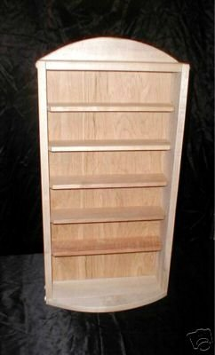 NEW Handcrafted Cherry Wood Display Shelf Curio Cabinet