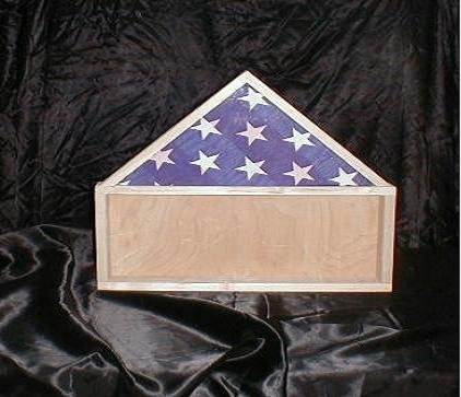 New Cherry Wood 5 X 9 Burial Flag & Medal Display Case
