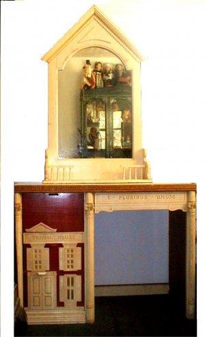 RARE Americana Colonial Childs PATRIOTIC Desk, Nightstand, Mirror, Headboard