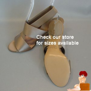 New Authentic Chloe Scarface Light Gray Satin Heels Shoes 38.5 / 8 $499