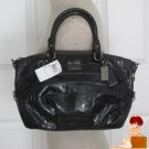 Authentic New Coach Madison Embossed Exotic Sophia Purse Bag Satchel 15924 Black