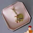 New Authentic Boxed Classic Juicy Couture Yellow Pave Crystal Banner Heart Charm