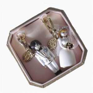 New Juicy Couture Bride and Groom 2011 Ltd Ed Charm Set