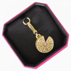 New Authentic Boxed Juicy Couture Pave Lemon Slice Gold Charm YJRU5616 $48