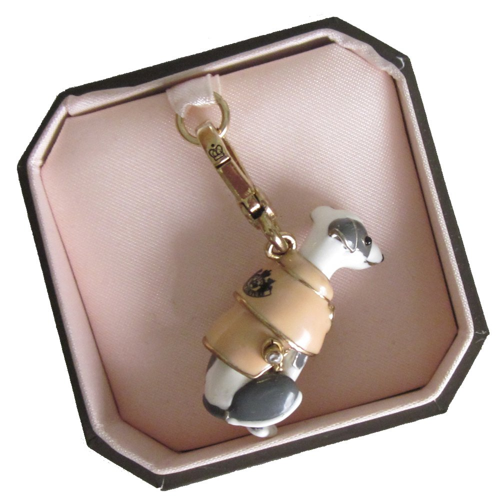 New Authentic Juicy Couture Greyhound in Trench Coat Charm
