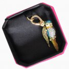 New Authentic Juicy Couture Parrot Bracelet Charm Gold Pave Crystal YJRU5712 $58