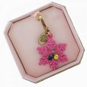 New Authentic Boxed Juicy Couture Limited Edition 2011 Pink Snowflake Charm $62