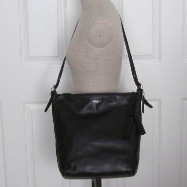New Coach Legacy Large Black Leather Duffle Shoulder Tote Handbag Purse 19893