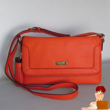 New Auth Kate Spade Biscayne Bay Marcela CrossBody Shoulder Bag Purse Orange