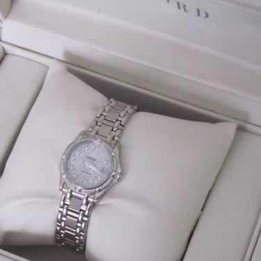 New Concord Saratoga Women's Stainless Steel Watch Diamond Markers Mosaic Dial