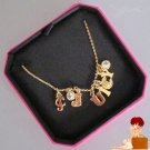 New Authentic Boxed Juicy Couture Ransom Note Charm Gold Necklace YJRU5538 $58
