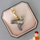 New Authentic Boxed Juicy Couture Gold Blue Pave Hummingbird Charm YJRUO730 $58