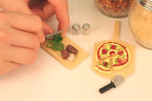 Re-Ment Fun Meals #1 Pizza Night. Barbie sized kitchen