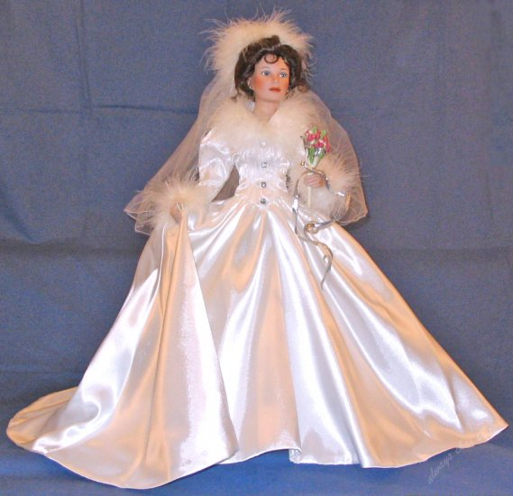 20in Porcelain Bride Doll WINTER ROMANCE by Sandra Bilotto from Ashton Drake Galleries