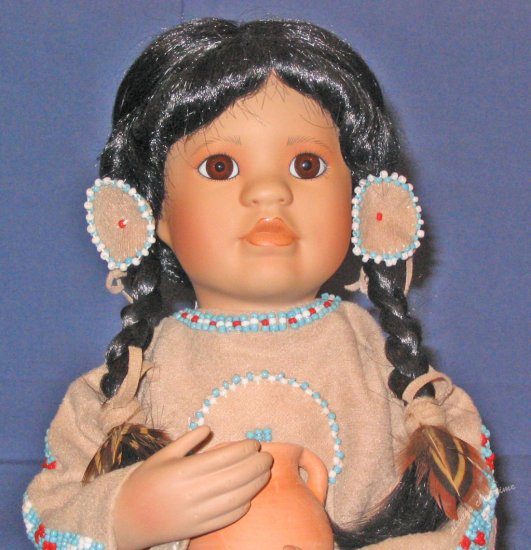 Porcelain Doll Many Stars in American Diary Dolls Collection by Linda Mason from Georgetown