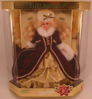 Happy Holidays Barbie 1996 collectible doll NRFB