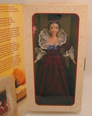 Sentimental Valentine Barbie doll NRFB Hallmark Collector 1996