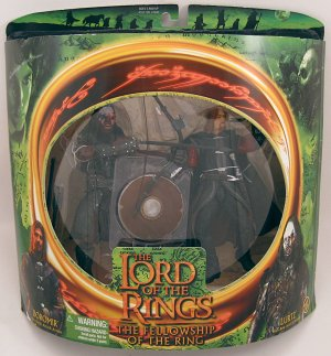 BOROMIR LURTZ action figures Lord of the Rings Fellowship NRFB 2001