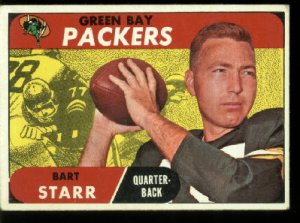 1968 Topps Bart Starr #1 Green Bay Packers