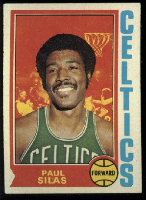 1974-75 Topps Paul Silas #9 Boston Celtics basketball card