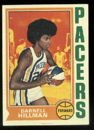 1974-75 Topps Darnell Hillman #182 Indiana Pacers ABA