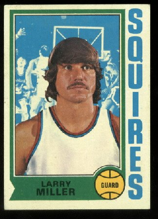 1974-75 Topps Larry Miller # 213  Virginia Squires ABA