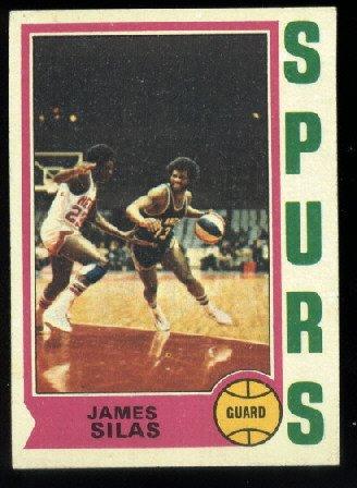 1974-75 Topps # 186 James Silas   ABA  San Antonio Spurs basketball card