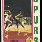1974-75 Topps # 186 James Silas   ABA  San Antonio Spurs basketball card