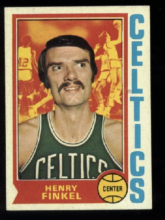 1974-75 Topps # 118 Henry Finkel   NBA    Boston Celtics