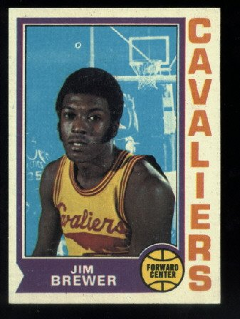1974-75 Topps #134 Jim Brewer Rookie  NBA  Cleveland Cavaliers