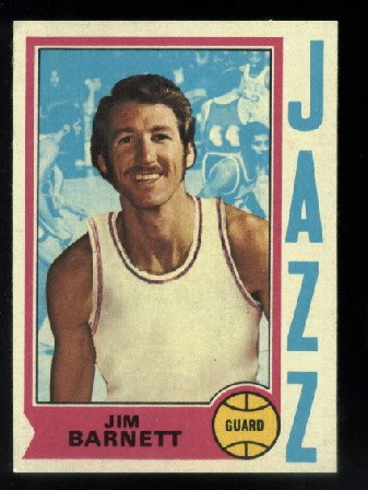 1974-75 Topps #47 Jim Barnett   NBA   New Orleans Jazz