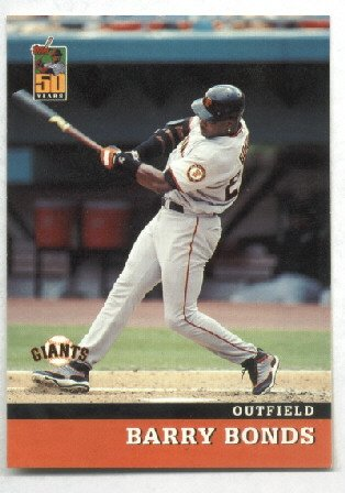2001 Post Cereal Barry Bonds #2 of 18 50 years series