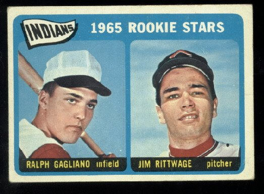 1965 Topps #501 Indian Rookie Stars Gagliano / Rittwage