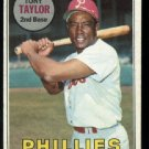 1969 Tops #108 Tony Taylor  Philadelphia Phillies Ex++