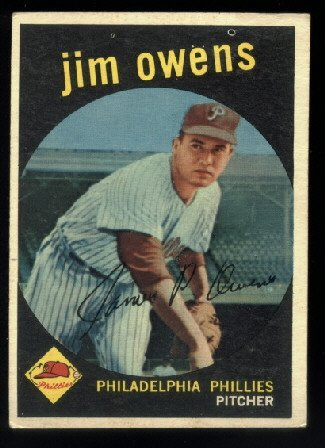 1959 Topps #503 Jim Owens Philadelphia Phillies