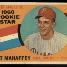 1960 Topps #138 Art Mahaffey Rookie Star Philadelphia Phillies