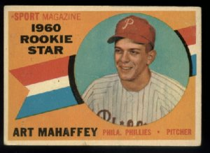 1960 Topps #138 Art Mahaffey Rookie Star Philadelphia Phillies