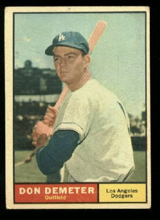1961 Topps #23 Don Demeter  Los Angeles Dodgers baseball card