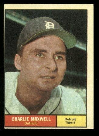 1961 Topps #37 Charlie Maxwell Detroit Tigers  baseball card
