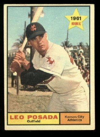 1961 Topps #39 Leo Posada  Kansas City Athletics RC rookie baseball card
