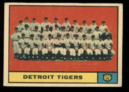 1961 Topps #51 Detroit Tigers team baseball card