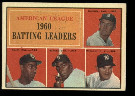 1961 Topps #42 A.L. Batting Champions baseball card