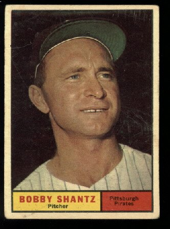 1961 Topps #379 Bobby Shantz Pittsburgh Pirates baseball cards