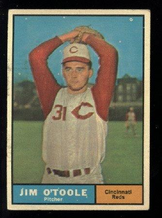 1961 Topps #328 Jim O'Toole Cincinnati Reds baseball card