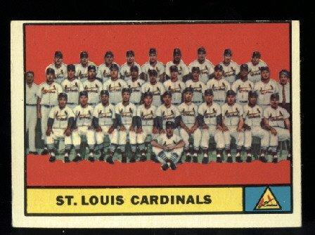 1961 Topps #347 St. Louis Cardinals Team baseball card