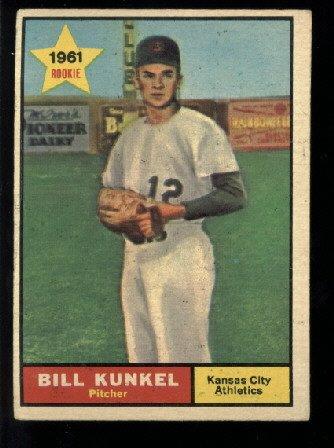1961 Topps #322 Bill Kunkel RC Kansas City Athletics rookie baseball card