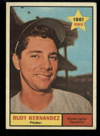 1961 Topps #229 Rudy Hernandez RC Washington Senators rookie baseball card