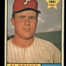 1961 Topps #202 Al Neiger RC Philadelphia Phillies rookie baseball card