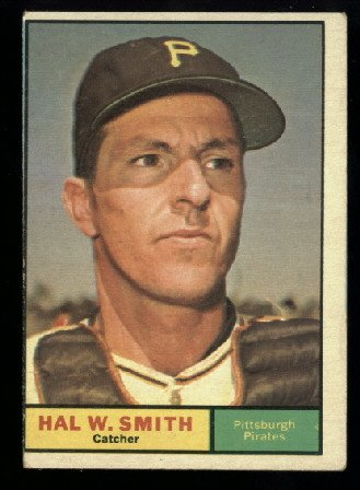 1961 Topps #242 Hal Smith Pittsburgh Pirates baseball card