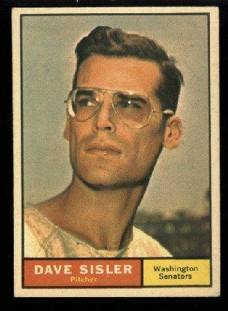 1961 Topps #239 Dave Sisler Washington Senators baseball card